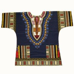 Dashiki fashion design African traditional printed 100% cotton Dashiki T-shirts for unisex Tribal Ethnic Succunct Hippie
