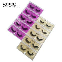 SHIDISHANGPIN 3d mink eyelashes natural long false eyelashes 1 pair 3d mink lashes fake eyelashes 3d lashes cilios for maquiagem