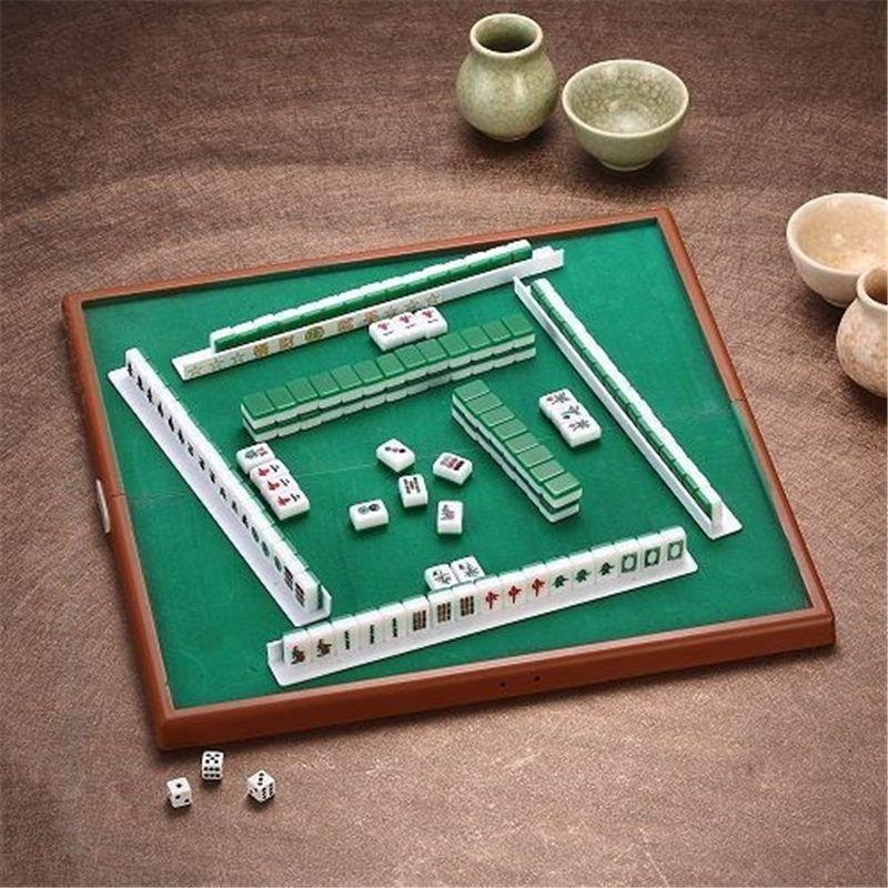Hot Sale Portable Mini Mahjong Set Chinese Antique Mini Mahjong Games Home GamesMahjong Chinese Funny Family Table Board Game