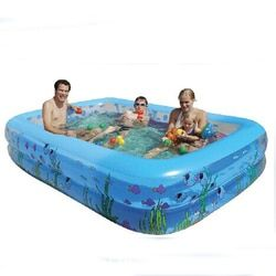 Hot Keluarga Tiup anak Tiup Besar Dicetak Persegi Panjang Kolam renang Paddling Pool Babys Ukuran 196*143*60 cm