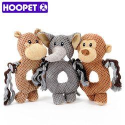 HOOPET pet Voz cão pequeno brinquedo brinquedo do cão macaco elefante anel de brinquedos do animal de estimação treinamento do animal de estimação