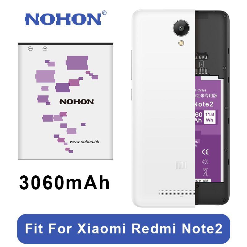 Original NOHON Battery BM45 For Xiaomi Redmi Note 2 High Capacity 3060mAh Mobile Phone Replacement Batteries Free Tools