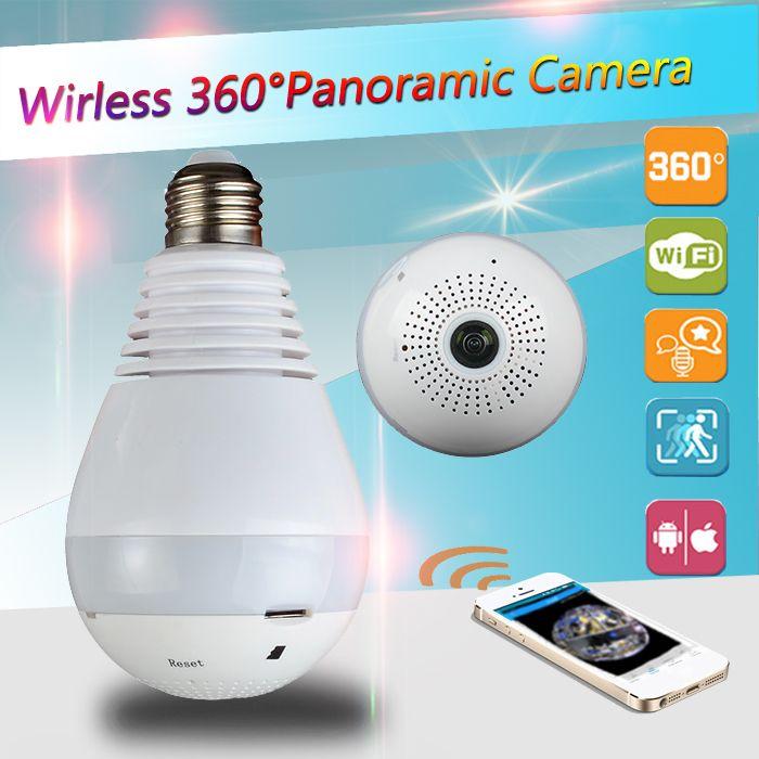 960P 360 degree Wireless IP Camera Bulb Light FishEye Smart Home CCTV 3D VR Camera <font><b>1.3MP</b></font> Home Security ip camera sd card wi-fi