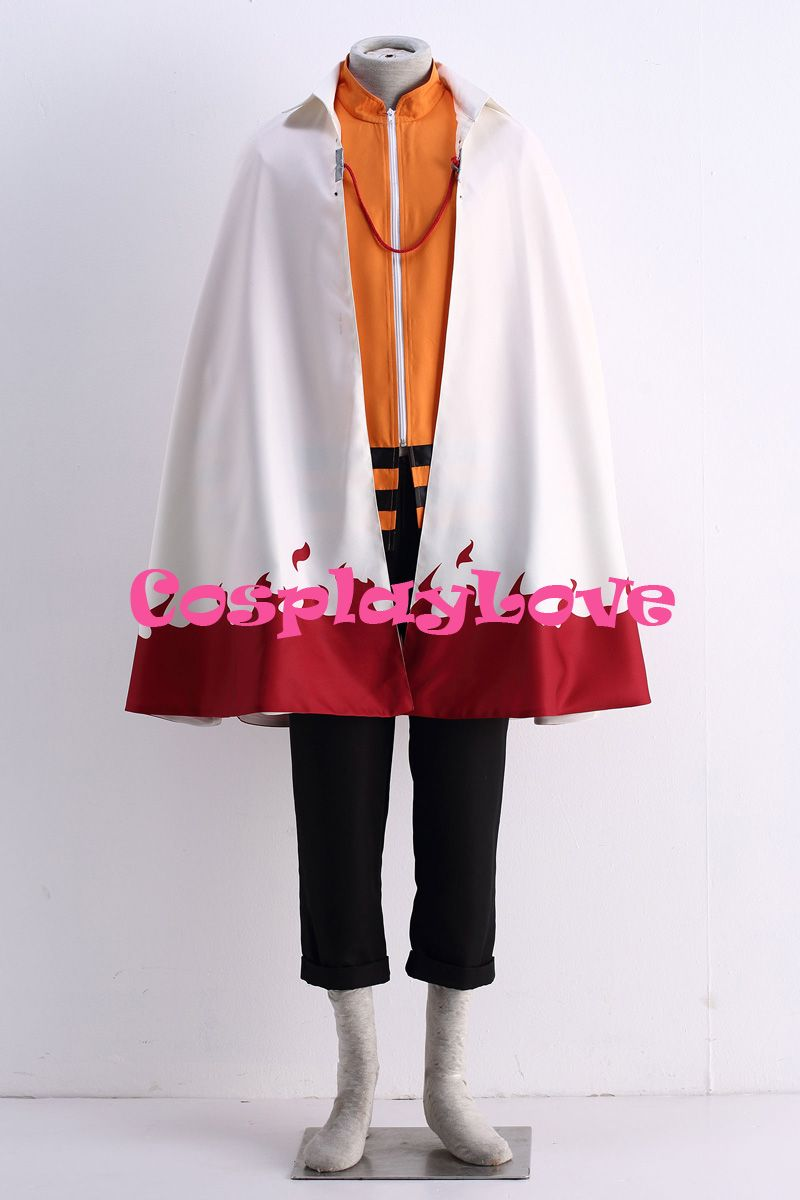 High Quality Stock Japanese Anime The Last: Naruto the Movie the 7th Hokage Boruto Uzumaki Cosplay Costume For Halloween (Cloak)