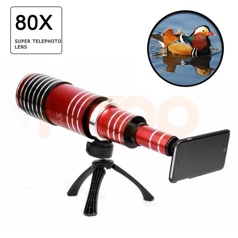 2017 New 80X Metal Telephoto Lentes Zoom Lens For iPhone 5 5s 6 6s 7 Plus Telescope Mobile Phone Camera Lenses For Samsung Cases
