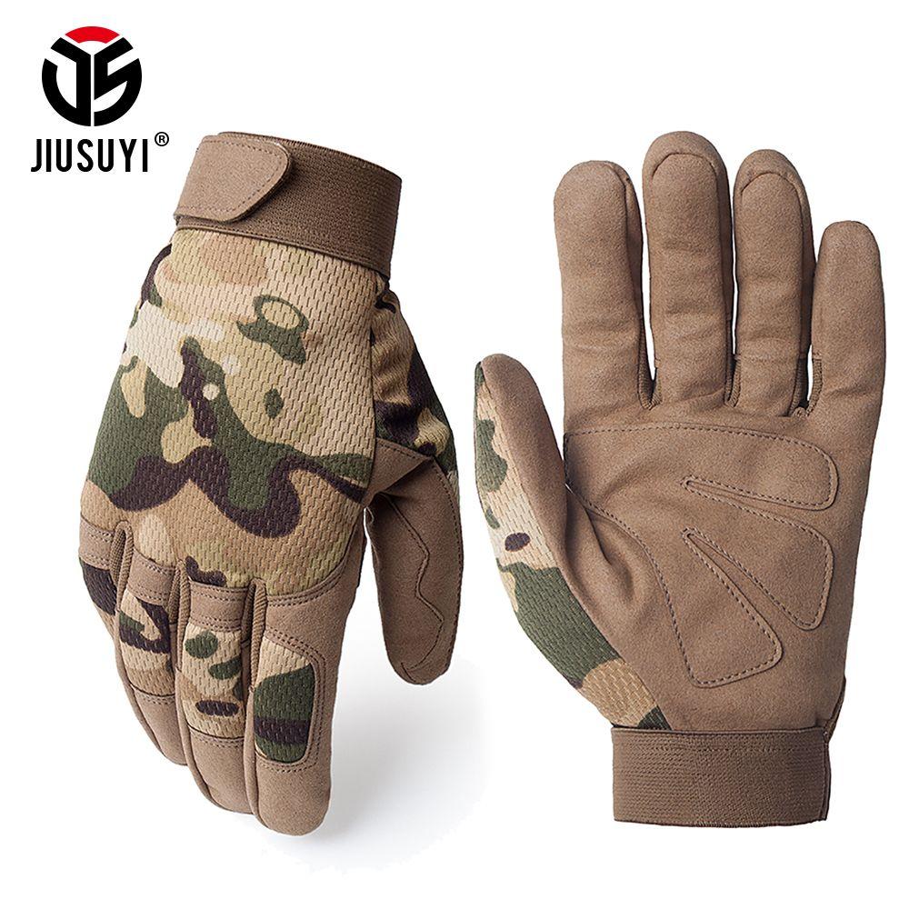 Multicam gants tactiques antidérapant armée militaire vélo Airsoft Motocycel Shoot Paintball travail Gear Camo complet doigt gants hommes