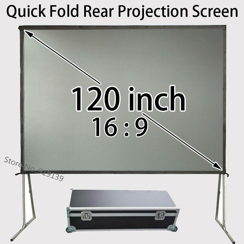 Großhandel Schnell Installieren Rückprojektionsscheibe 120 zoll 16:9 HDTV Leinwände Für Natürliche Klares Bild