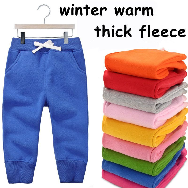 1-5Y baby pants children trousers boys winter pants <font><b>fleece</b></font> warm thick pants for girls clothing boy trousers autumn 1014