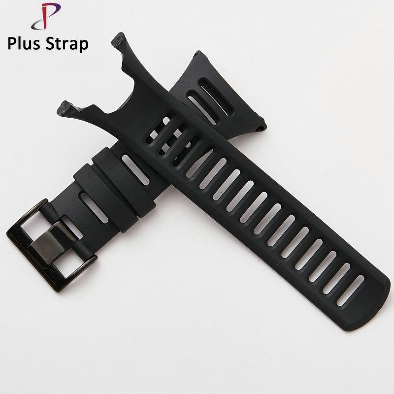 24mm Black Buckle Silicone Watch Band Strap Watch for SUUNTO Ambit 1 2 3 2R 2S Replacement Sport Wristband