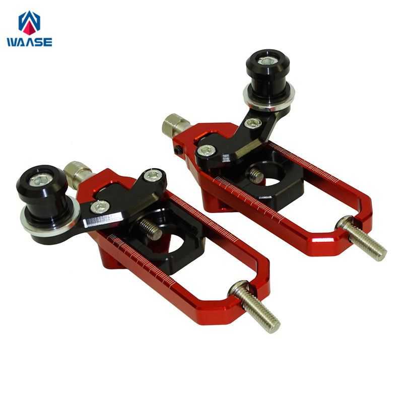 waase ZX10R Motorcycle Left & Right Chain Adjusters with Spool Tensioners Catena For Kawasaki Ninja ZX-10R 2008 2009 2010