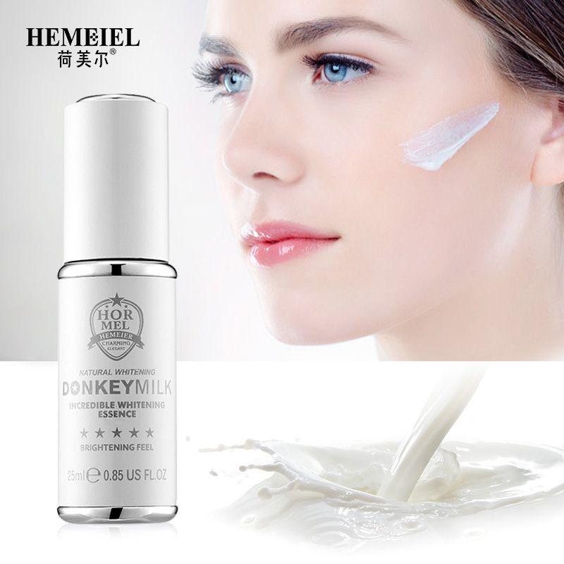 HEMEIEL Esel Milch Gesicht Serum Anti Aging Starke Bleaching Serum Koreanische Gesichts Feuchtigkeitscreme Makel Entfernung Creme Hautpflege 25 ml