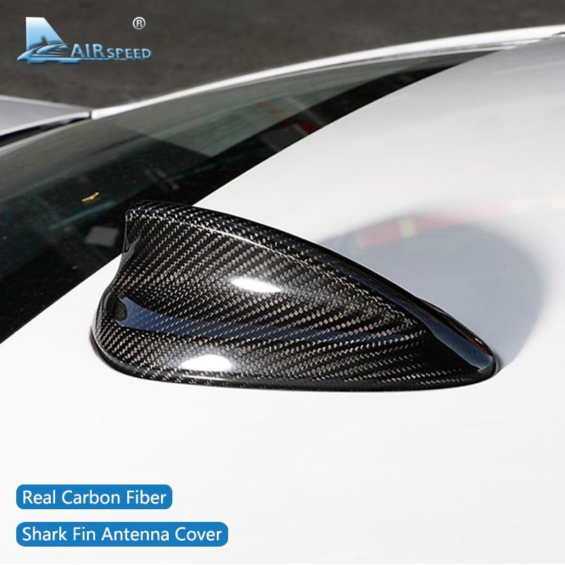 Fluggeschwindigkeit für BMW E90 E92 M3 F20 F30 F10 F34 G30 M5 F15 F16 F21 F45 F56 F01 Zubehör Carbon fiber Shark Fin Antenne Abdeckung Trim