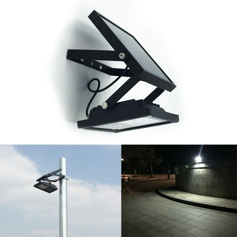 All Metal IP65 Waterproof 24LED Solar LED Flood Light Auto ON/OFF Outdoor Light for Garden Yard Wall Lamp 3 Power Mode