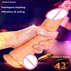 Vibrating Dildo Pengisap Cangkir Mainan Seks untuk Wanita Consolador Tali Pelurusan untuk Wanita Dildo untuk Wanita Realistis Penis Gode vibrant