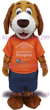 mascot Special Price Cute Dog Mascot Costume for hospice Long Plush Brown Dog Mascotte Fancy Dress Cosplay Costumes Kits