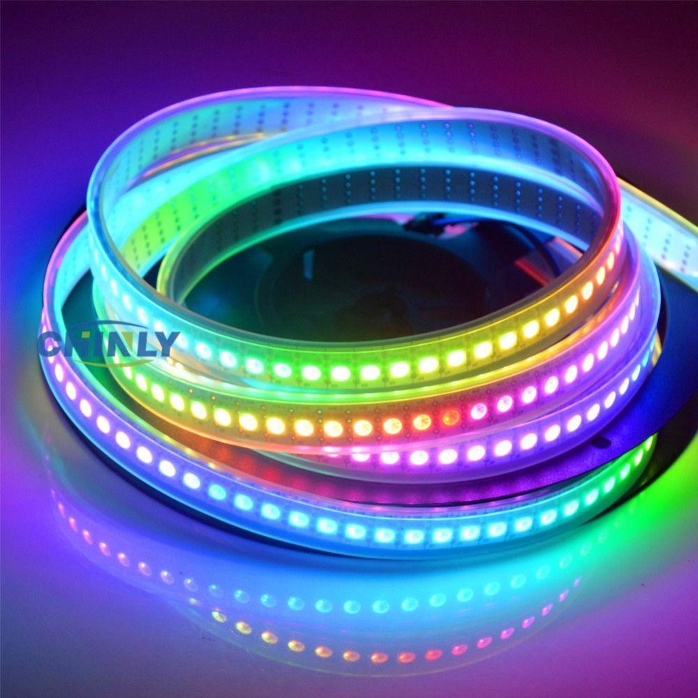 APA102 Smart LED Pixel Bande Light1m/5 m IP30 IP65 IP67 étanche Lumière 30/60/144 LED s/m Pixel DONNÉES et HORLOGE Séparément DC5V