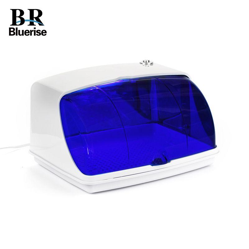 UV Sterilizer Professional Nail Art Disinfection & Clean Nail Art <font><b>Equipment</b></font> Tray Temperature Sterilizer Tool 220V EU Plug 9003
