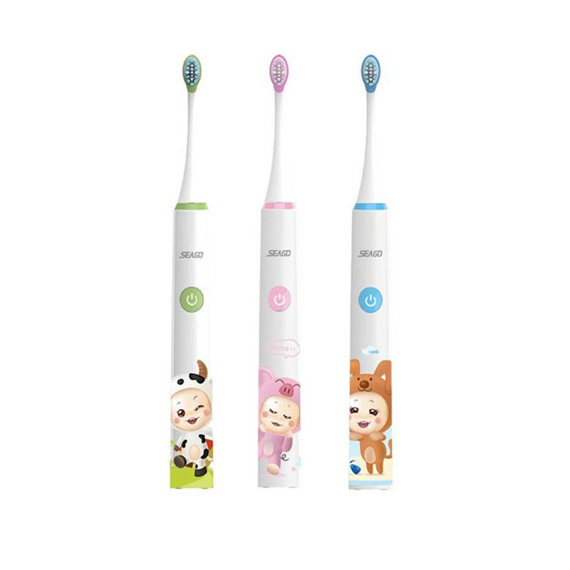 Sonic Electric Toothbrush Cartoon for Children kid Four-speed Washable USB charge Rechargeable 3-12 years Smart timing Seago