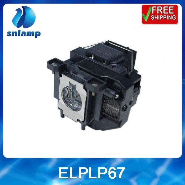 Snlamp Replacement longlife projector lamp with housing ELPLP67 / V13H010L67 for EB-X14, EB-W02, EB-X02, EB-S12, EB-X11 MG-850HD