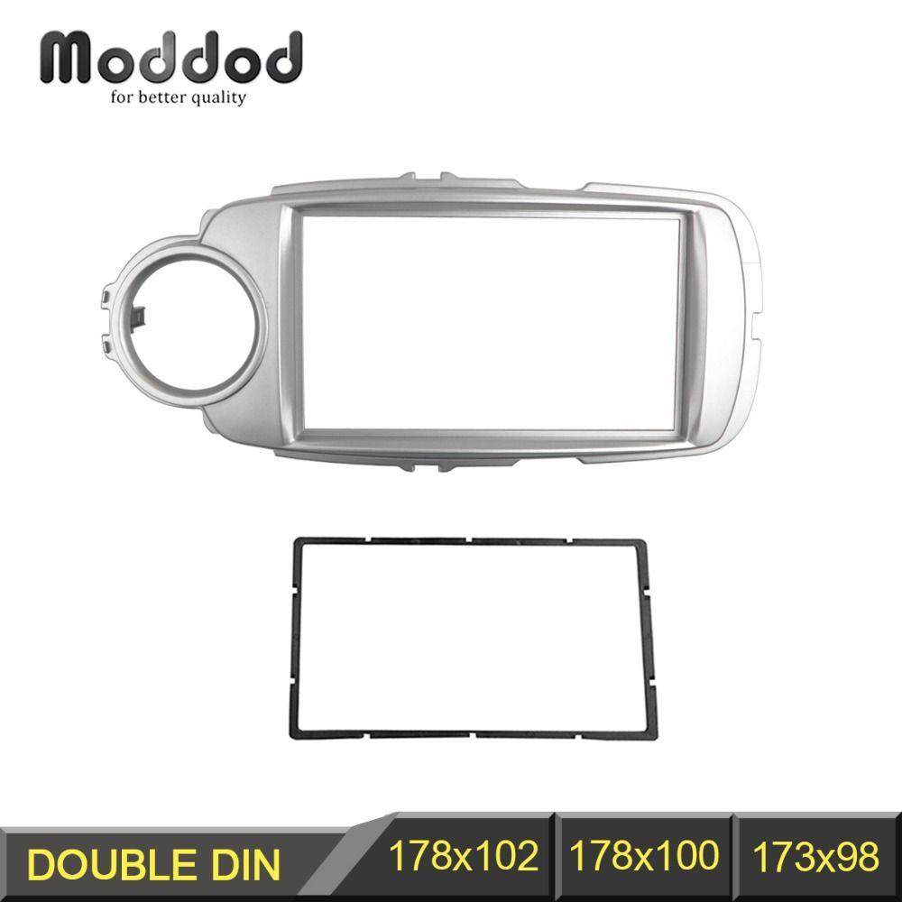Double Din Radio Fascia pour Toyota Yaris Vitz 2011 + DVD stéréo panneau tableau de bord Installation de montage kit d'outils pour habillage Face cadre cadre