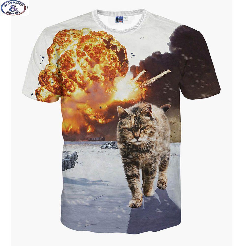 Mr.1991 Super pouvoirs chat imprimé 3D t-shirt pour les garçons de mode filles t shirt d'été animaux imprimé grands enfants 6-20years t-shirt A4