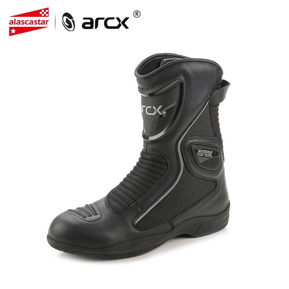 ARCX Motorrad Stiefel Kuh Leder Moto Stiefel Wasserdicht Motocross Stiefel Männer Straße Moto CruiserTouring Schuhe Reiten Schuhe