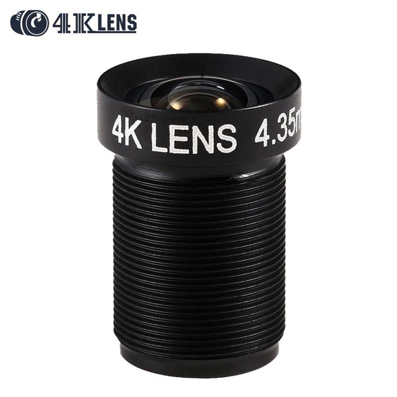 4.35MM Lens 1/2.3 Inch 10MP IR 72D Flat 4K Lens for Go pro Xiaomi Yi SJCAM DJI Phantom 3/4 Drones 2017 Newly Custom Logo