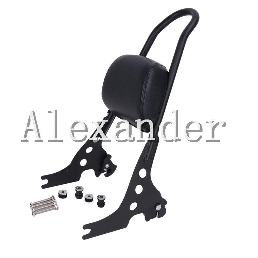 Luggage Rack Sissy Bar Rear Passenger Backrest Cushion Pad For Harley Sportster 48 883 1200 XLH XL 883C 883R 1200R 1200C X48