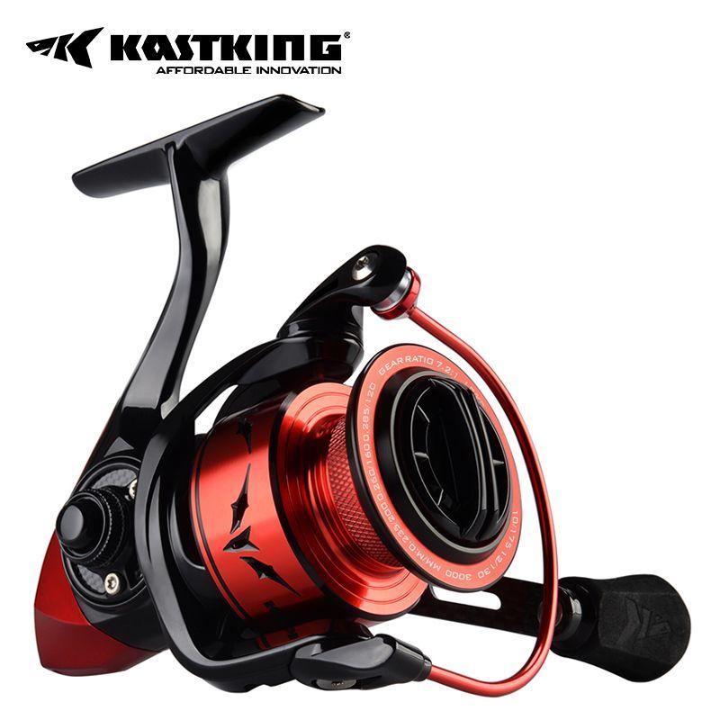 KastKing Speed Demon Spinning Reel, Blazing Fast 7.2:1 Gear Ratio, Aluminum Frame, Carbon Rotor & Handle, Braid Ready Spool