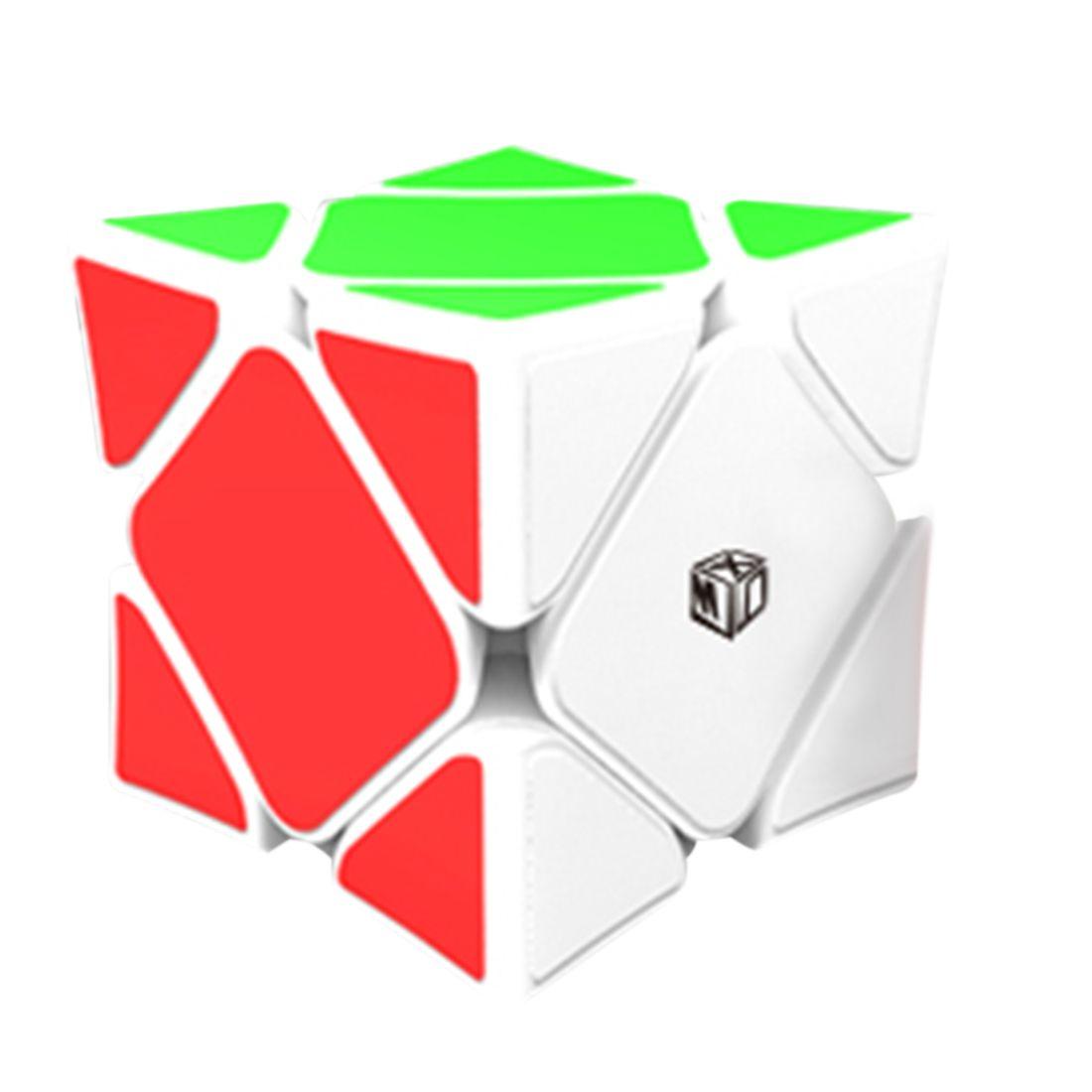 QiYi Cóncava Cubos de Velocidad Skewb Cubo Mágico con Sistema de Posicionamiento Magnético Rompecabezas Juguetes Para Los Niños