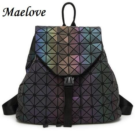 Maelove Luminous backpack 2019 Hot women backpack hologram /Noctilucent backpack Student's School Bag Free Shipping