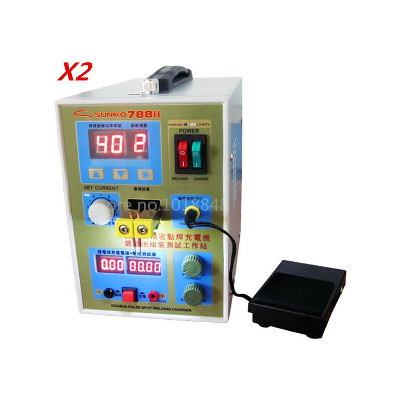 2pcs/Lot New upgrade LED lighting 788H double pulse precision 18650 Spot Welder Battery Welder, 788h,788(220V/110V)