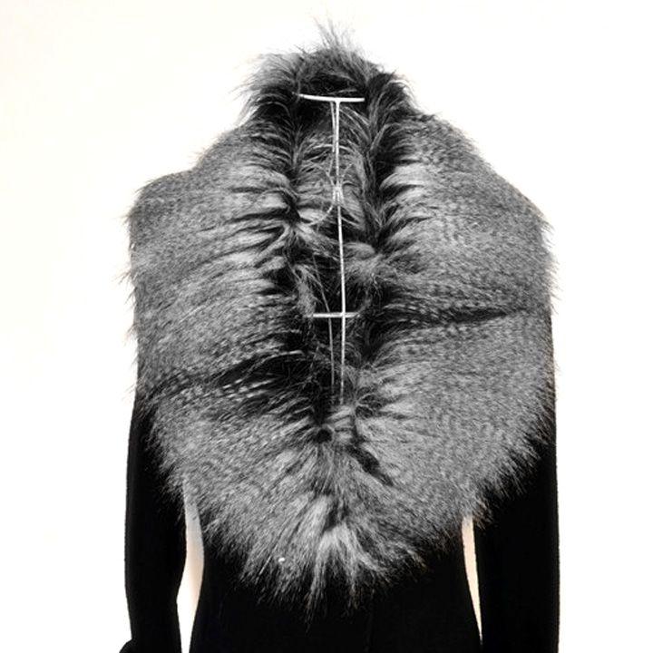 Для женщин меховой воротник зимнее пальто плечами пункт специальные искусственной меховой воротник шарф платок Обёрточная бумага воротни...