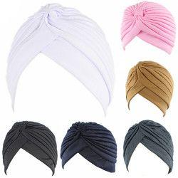 Chapeau Pour Musleim Femmes Solide Couleur Musulman Turban Cap Femmes Élastique Extensible Bonnets Chapeau Bandanas Big Satin Bonnet Hijab Cap