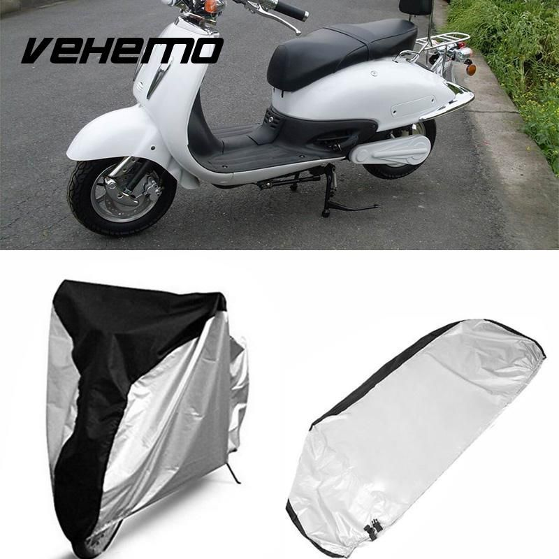 Vehemo Waterproof Motorcycle Cover 4 Size Motorbike Scooter Outdoor Protective Rain Dust Protector Cover Universal