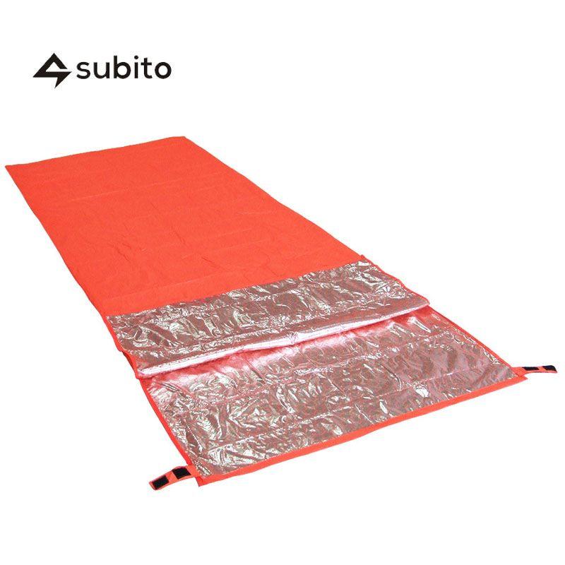 SUBITO Ultralight <font><b>Survival</b></font> Sleeping Bag Outdoor Camping First Aid Sleeping Bags Warming Sleeping Bag Watrproof Emergency bag