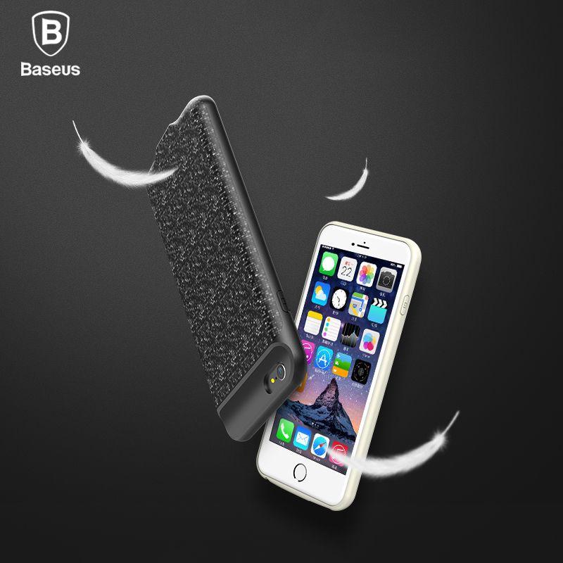 Baseus Cas D'alimentation Pour iphone 6 s plus 2500/3650 mAh Magnétique Portable Puissance Banque Chargeur Cas Pour iphone 6 s Externe Batterie De Rechange
