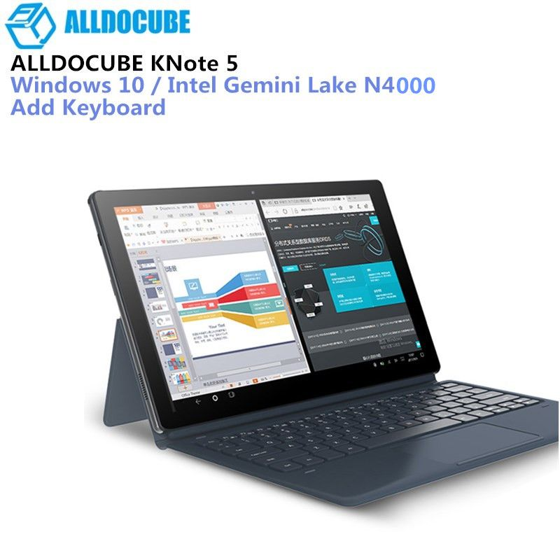 ALLDOCUBE KNote5 4GB+64GB 11.6'' Windows 10 Intel Gemini Lake N4000 Quad Core 2.4GHz Dual WiFi Type-C Tablets 2 In 1 Tablet PC