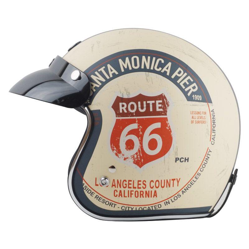 Hot sale TORC T50 Route 66 Motorcycle helmet jet Vintage helmet Open face retro 3/4 half helmet casco moto capacete motociclismo