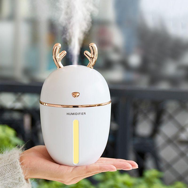 Diffuseur d'huile essentielle d'arome d'usb d'humidificateur d'air de 450 ML pour le bureau à la maison aromathérapie Humidificador Difusor avec la lampe de veilleuse