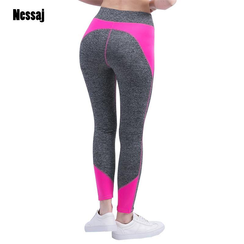 Nessaj femme taille haute Fitness pantalon Legging entraînement activité Leggings vêtements de musculation Body Shapers femmes Leggings