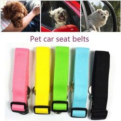 New Adjustable Dog Pet Car Safety Seat Belt Restraint Lead Travel Leash 4.5CM Nylon Durable  @01