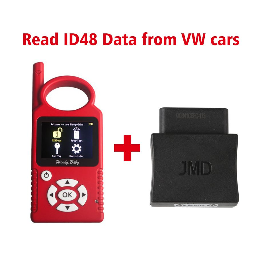 Handy Baby V8.8.9 CBAY Hand-held Car Key Copy for 4D/46/48 Chips+JMD Assistant OBD Adapter for VW