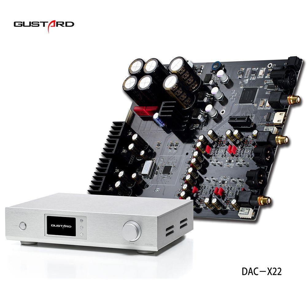 2018 high end GUSTARD DAC-X22 ES9038PRO I2S XMOS HiFi DAC PCM384K DSD512 DOP Decoder full interface supports DSD DOP