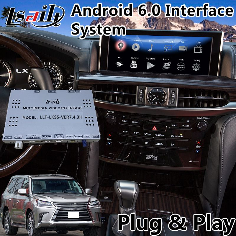 Android 6.0 Auto Video Interface for Lexus LX 570 450d with Mouse Control 2016-2018 , GPS Navigation Waze Mirrorlink