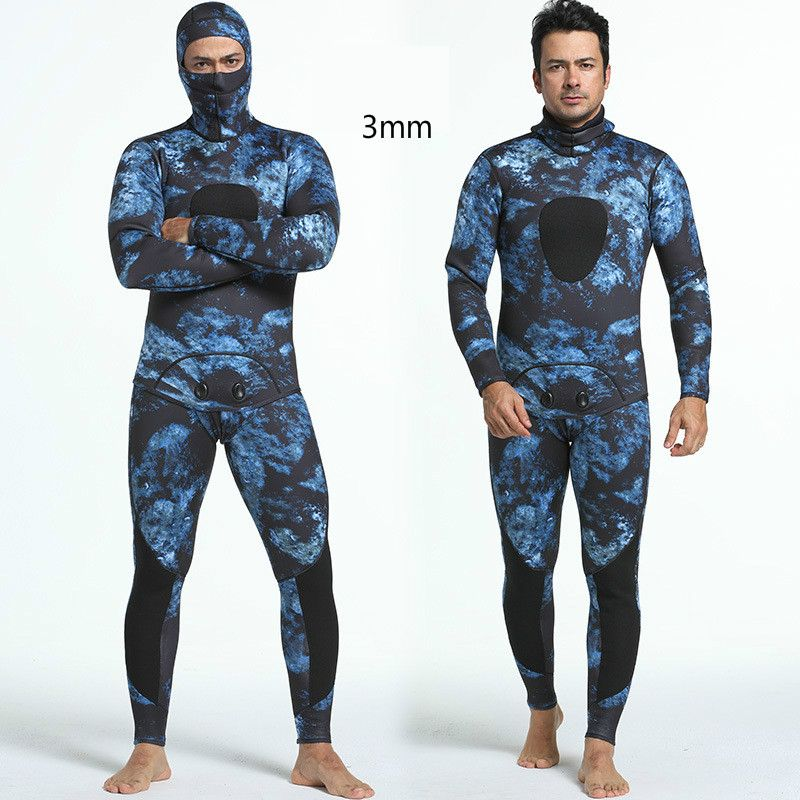 Mounchain Diving suit neoprene 3mm men pesca diving spearfishing wetsuit snorkel swimsuit Split Suits combinaison surf wetsuit