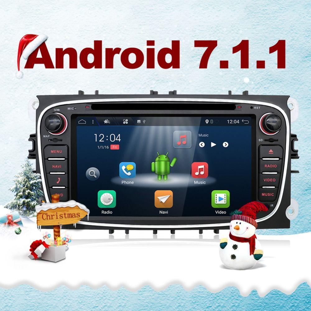 Bosion Android 7.1 Quad core auto dvd für Ford Focus Galaxy Mondeo S max auto radio stereo multimedia player kostenloser canbus