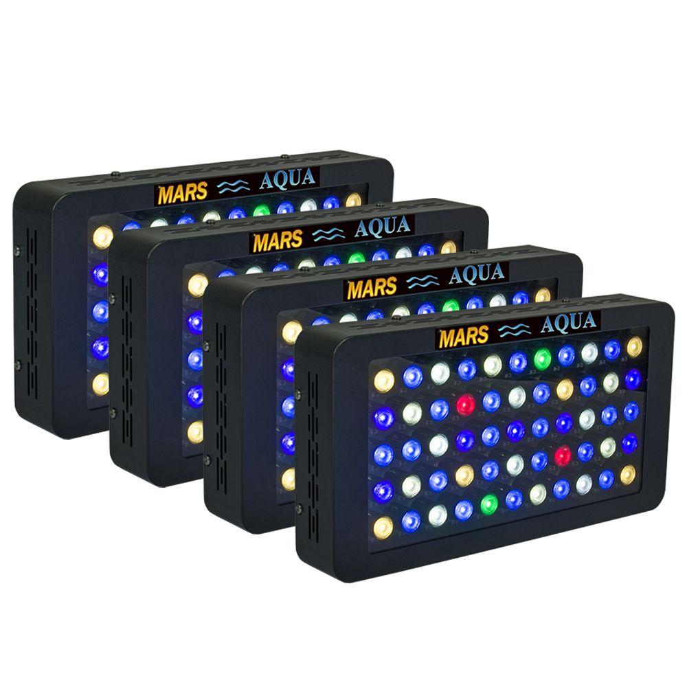 4PCS Mars Aqua 165W Dimmable Led Aquarium Lights for Coral Reef , Full Spectrum Aquarium Led Lighting