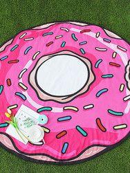 Serviette De Plage ronde Ananas Donut Pizza Microfibre Cercle Serviette Polyester Plage Couverture Serviette De Bain Pour Adultes Serviette De Plage
