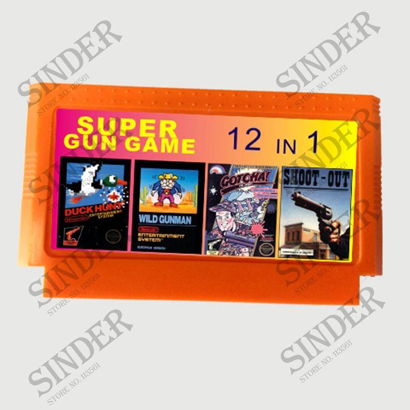 Super jeu de pistolet 12 en 1 pas de répétition 60 broches carte de jeu pour 8 bits D99 joueur de jeu